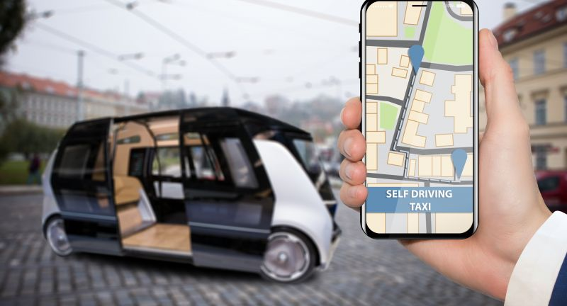 self driving, artificial intelligence, taxi, remote, internet, internet of things, futuristic, future, phone, map, public transport, autopilot, remote control, mobile app, control, route, street, smart, driverless, bus, autonomous driving, autonomous, vehicle, technology, city, device, hand, travel, transport, car, business