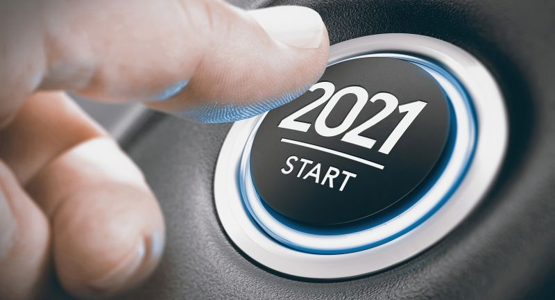 2021, sign, button, finger, engine, new year, white, car, push, symbol, concept, start, blue, black, technology, key
